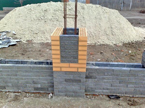как сделать кирпичный забор на фундаменте