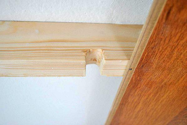 как закрепить ламинат на потолке фото