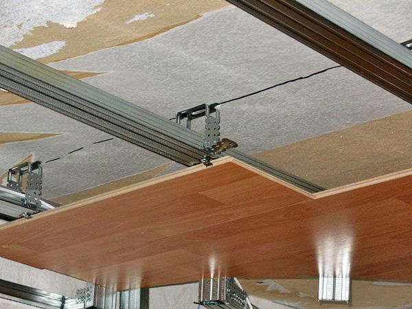 крепление ламината на потолок фото