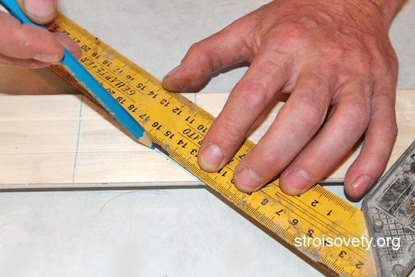 подрезка угла наличника под 45 градусов фото