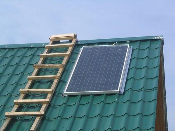 использование солнечных батарей