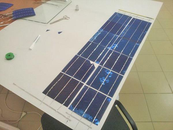изготовление и подключение солнечной батареи