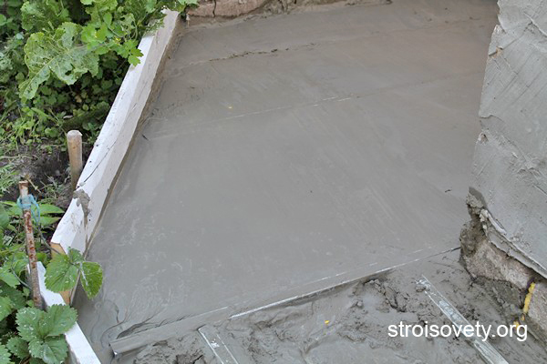бетонирование площадки фото