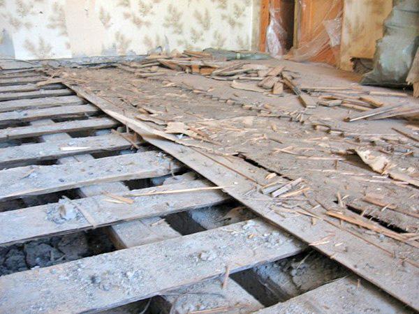 реставрация старого деревянного пола фото