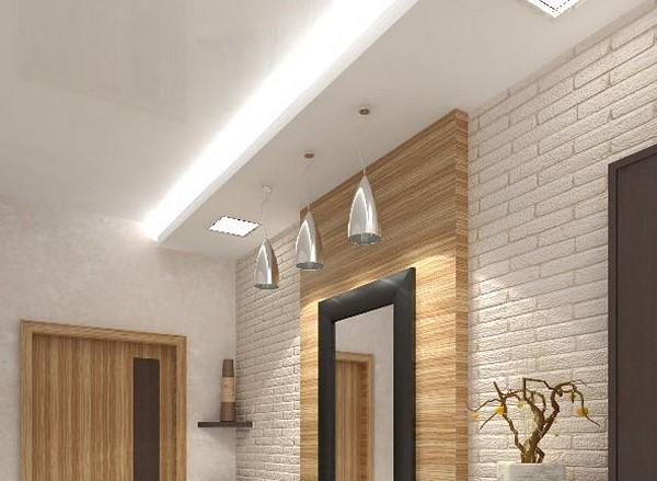 потолок из гипсокартона в коридоре фото