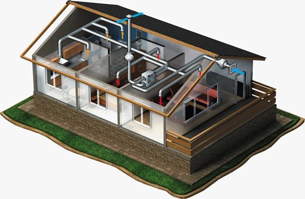 рекуператор воздуха для частного дома схема