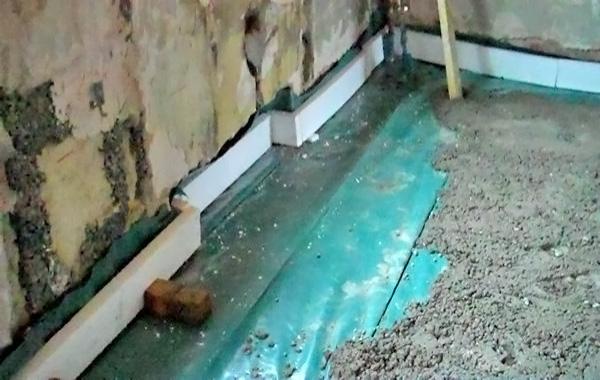 устройство бетонного пола по грунту фото