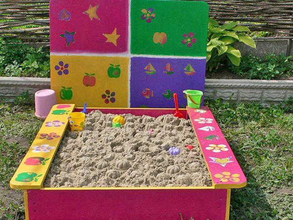 как сделать песочницу на даче фото