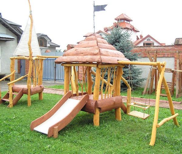 создание детской площадки на даче фото