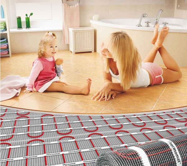 электрический теплый пол фото