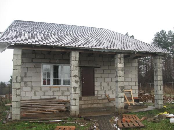 дачный домик из пеноблоков фото