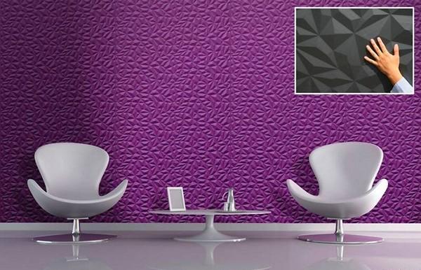 отделка стен 3d панелями фото
