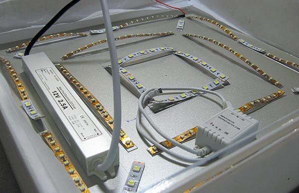 как сделать лампу из светодиодной ленты фото