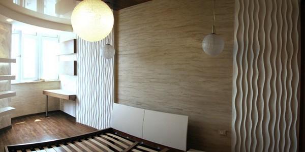 финишная отделка стен 3d панелями фото