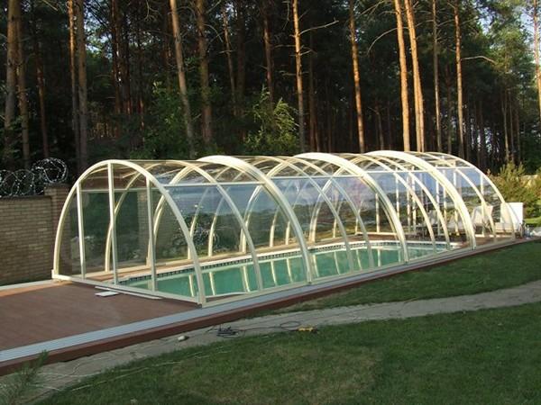 раздвижной павильон для бассейна фото
