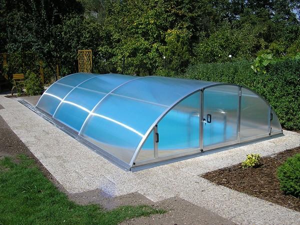 стеклянный павильон для бассейна фото