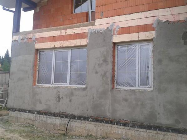материалы для отделки фасада дома: штукатурка фото