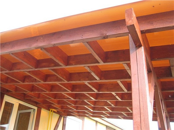 деревянный навес к дому фото