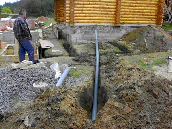 напорная канализация в частном доме фото