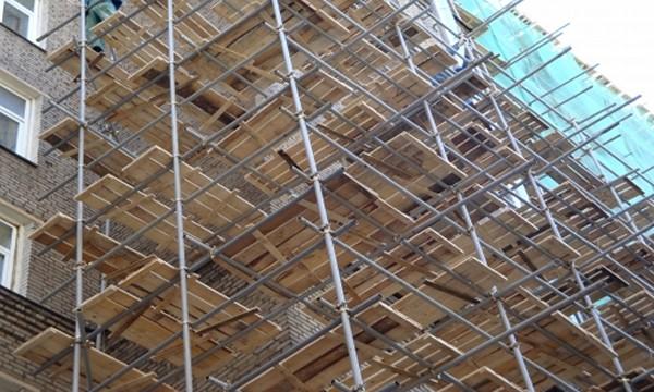 хомутовые строительные леса фото