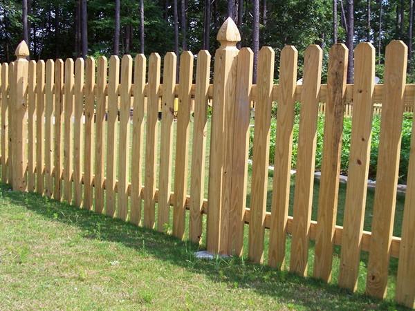 деревянный штакетник фото