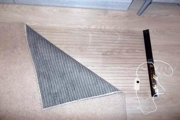 инфракрасный теплый пол под ковер фото