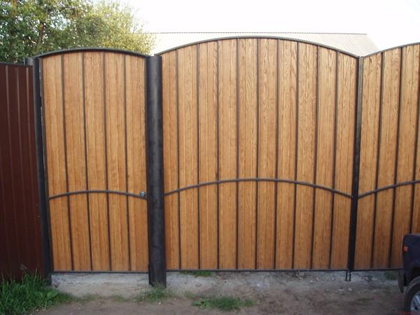 как сделать распашные ворота своими руками
