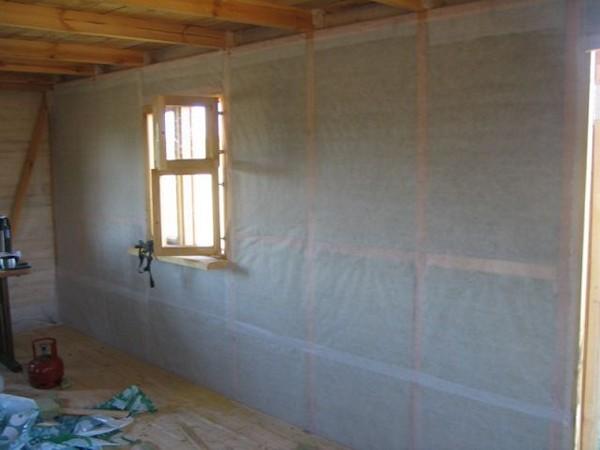 пароизоляция стен изнутри