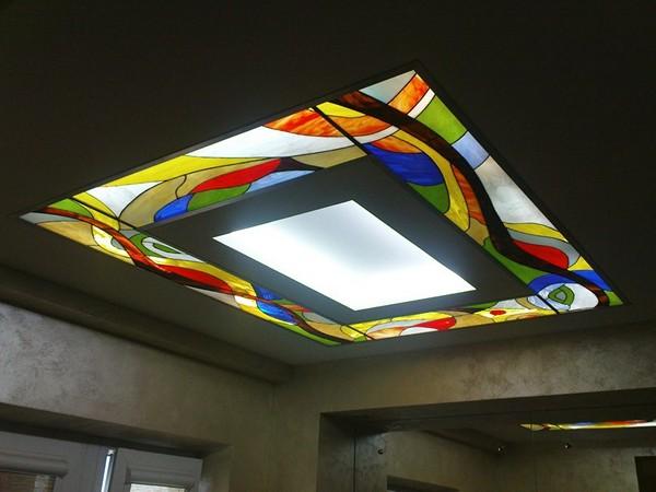 витражные подвесные потолки фото