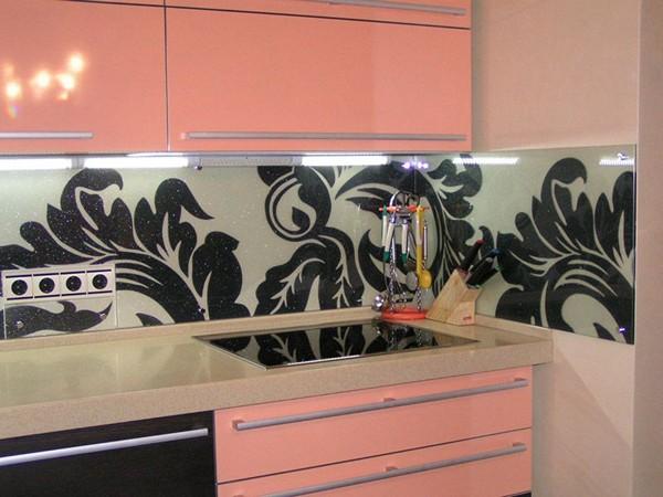 стеклянные стеновые панели для кухни фото