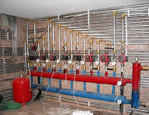 коллекторная система отопления двухэтажного дома фото