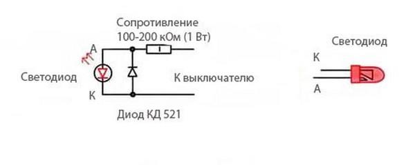 как сделать выключатель с подсветкой фото