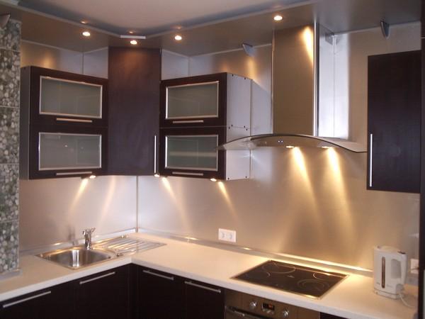 подсветка фартука на кухне фото