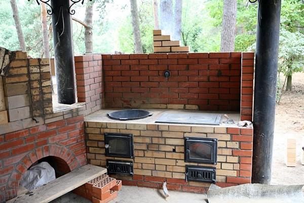 строительство летней кухни фото