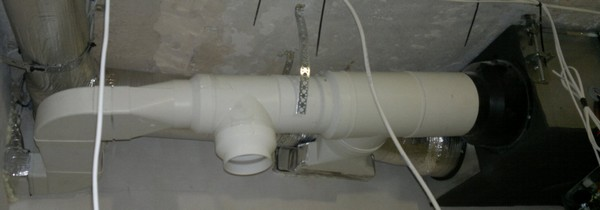 вентиляция из пластиковых труб   фото