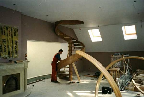 винтовая лестница своими руками фото