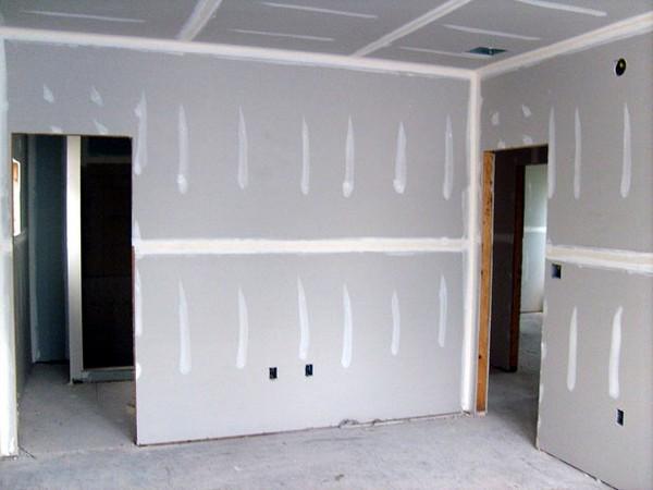 монтаж стены из гипсокартона фото