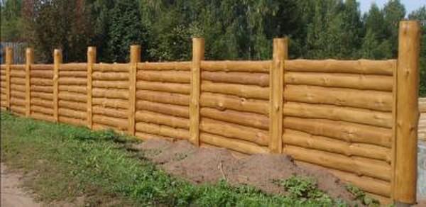 красивый забор из горбыля фото