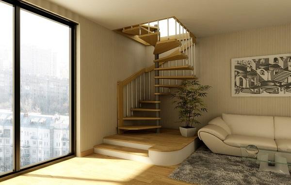 винтовая лестница на чердак фото