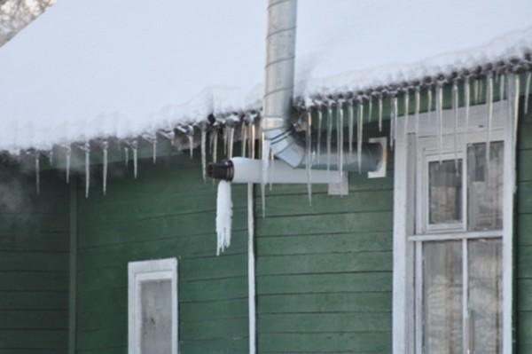 замерзает коаксиальный дымоход фото
