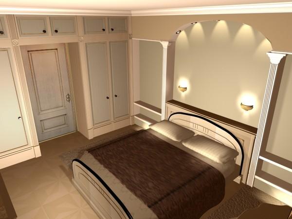 освещение спальни без люстры фото