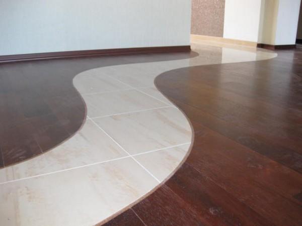 Стык между плиткой и ламинатом: как сделать и красиво оформить