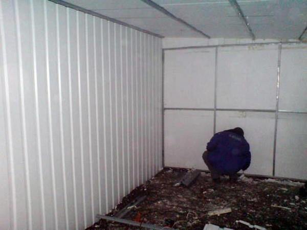 утепление металлического гаража фото