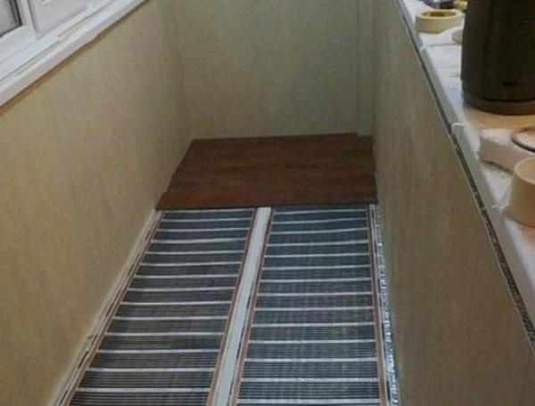 какой выбрать теплый пол на балконе фото