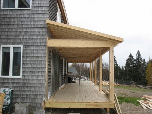 пристроить крыльцо к деревянному дому фото