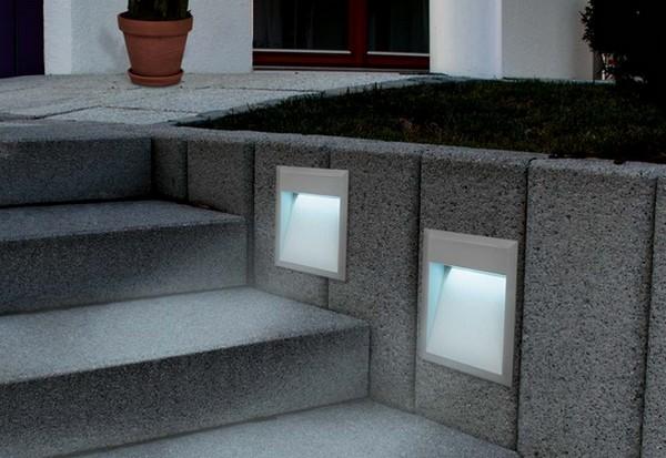 светильники встраиваемые в стену фото