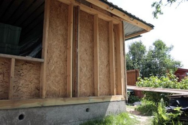 строительство стен каркасного дома фото