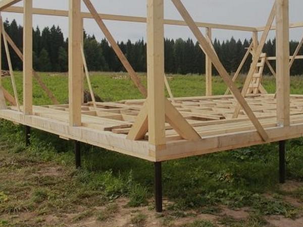 винтовой фундамент для каркасного дома фото