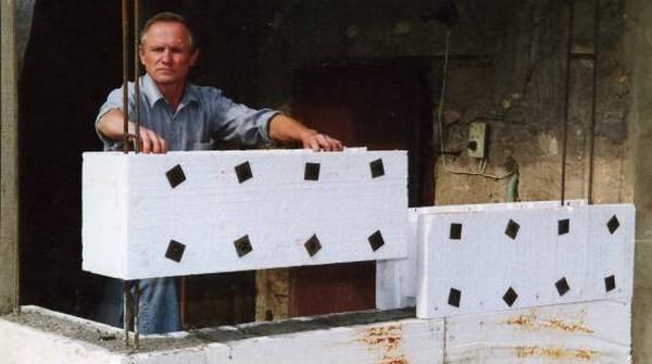 дом из пенопласта и бетона фото