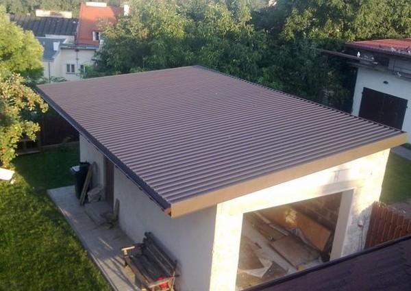 Односкатная крыша для гаража: варианты изготовления